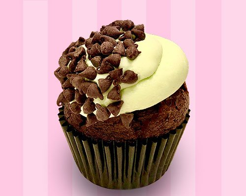 Mint Chocolate Chip Cupcake