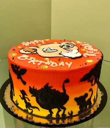 Lion King Layer Cake - Side