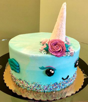 Narwhal Layer Cake - Left Side