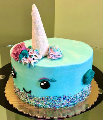 Narwhal Layer Cake - Right Side