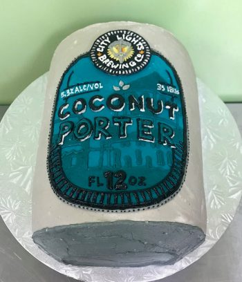 Beer Can Shaped Cake - Coconut Porter