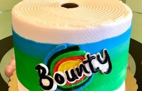 Bounty Paper Towel Layer Cake - Front
