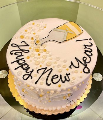 Champagne Toast Layer Cake - Top