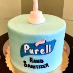Hand Sanitizer Layer Cake - Blue