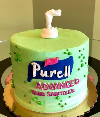 Hand Sanitizer Layer Cake - Green