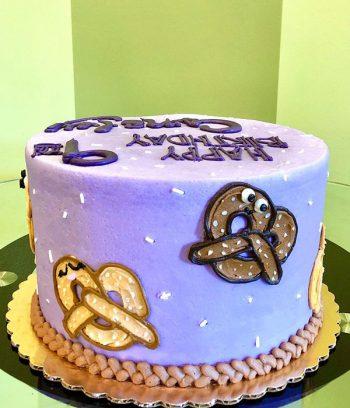 Hot Pretzel Layer Cake - Side