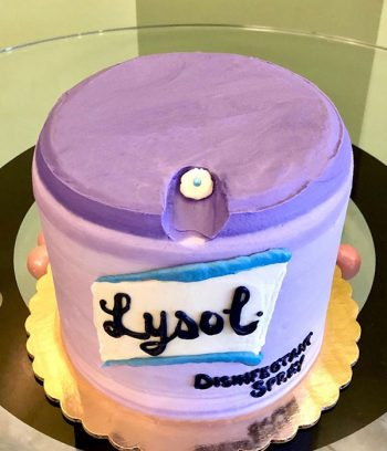 Lysol Disinfectant Layer Cake - Top
