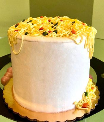 Ramen Noodles Layer Cake - Back