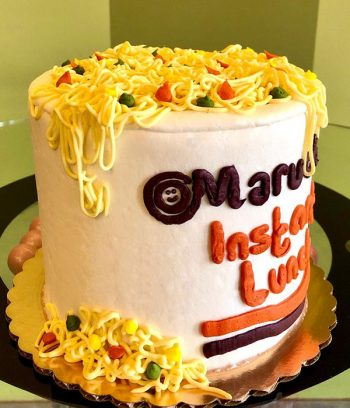 Ramen Noodles Layer Cake - Side