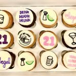 21st Birthday Cupcakes