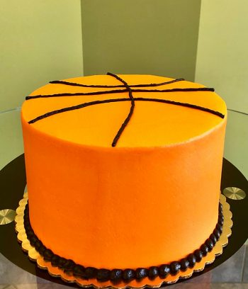 Basketball Layer Cake - Back