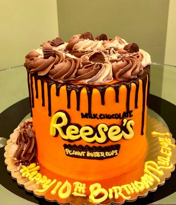 Reese's Peanut Butter Cup Layer Cake - Front