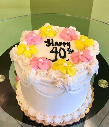Vintage Anniversary Layer Cake - Pink & Yellow