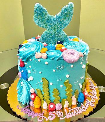 Mermaid Tail Layer Cake