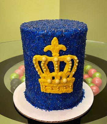 Crown Layer Cake - Royal Blue & Gold