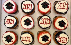 Graduation Cupcakes - Red & Black