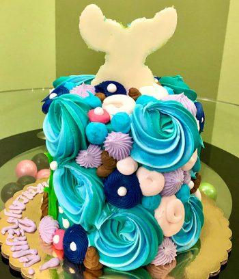 Mermaid Tail Layer Cake - 4 Inch