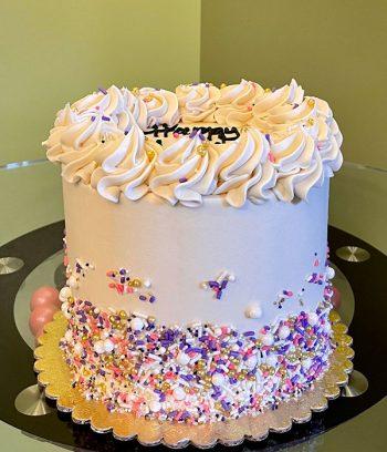 Sprinklefetti Layer Cake - Ivory