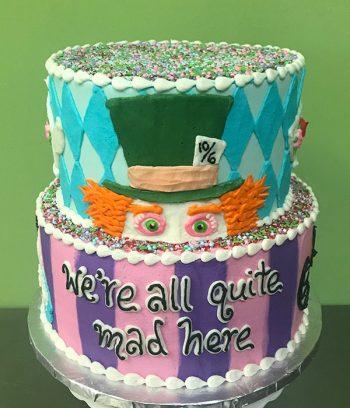 Alice in Wonderland Tiered Cake