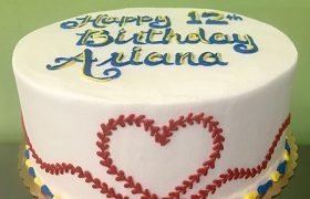 Baseball Heart Layer Cake