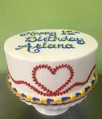 Baseball Heart Layer Cake