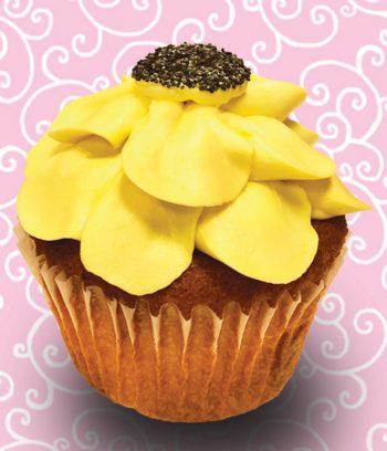 Lemon Poppyseed Jumbo Filled Cupcake