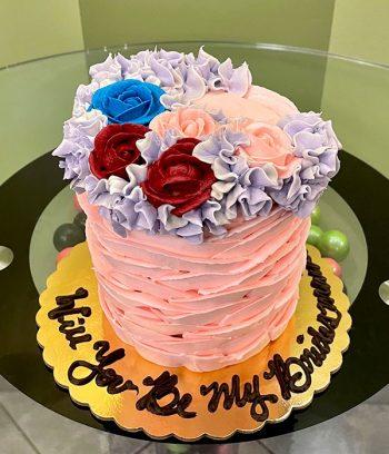 Country Petal Layer Cake - Blush Pink