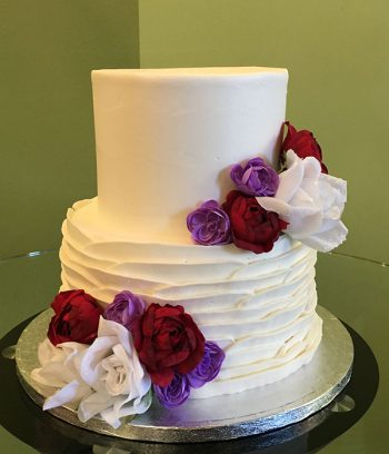Country Petal Tiered Cake - Fabric Flowers
