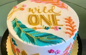 Feather Layer Cake - Top