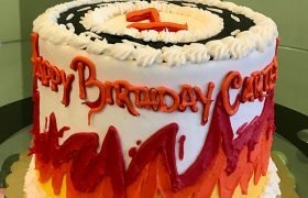 Hot Wheels Layer Cake - SIde