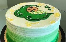 Sweet Pea Layer Cake - Green