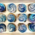 Galaxy Swirl Cupcakes - Blue & Purple