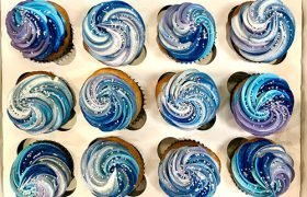 Galaxy Swirl Cupcakes