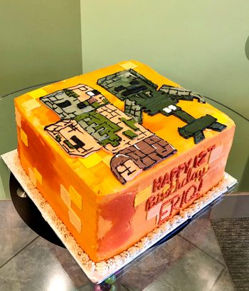 Minecraft Character Layer Cake - Side