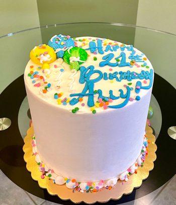 Birthday Balloons Layer Cake
