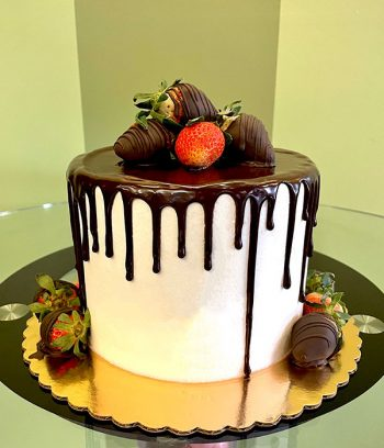Chocolate Covered Strawberry Layer Cake - Back