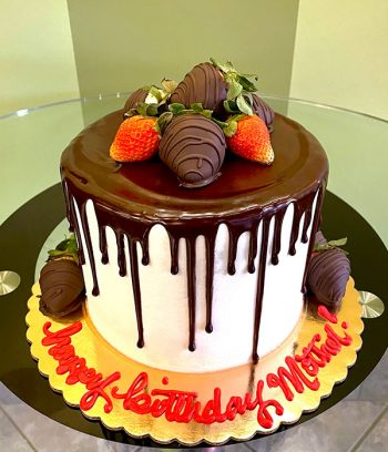 Chocolate Covered Strawberry Layer Cake - Front