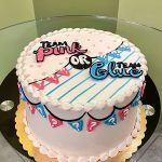 Gender Reveal Banner Layer Cake - Top