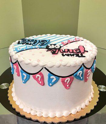 Gender Reveal Banner Layer Cake - Side