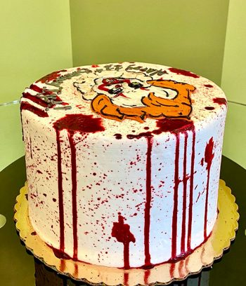 Scary Clown Layer Cake - Back