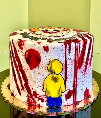 Scary Clown Layer Cake - Side