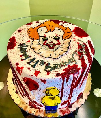 Scary Clown Layer Cake - Top