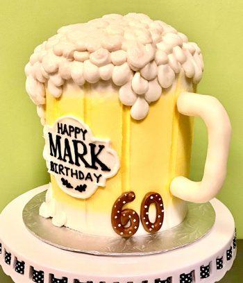 Beer Mug Shaped Cake - Side