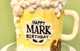 Beer Mug Shaped Cake - Front