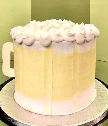 Beer Mug Shaped Cake - Back