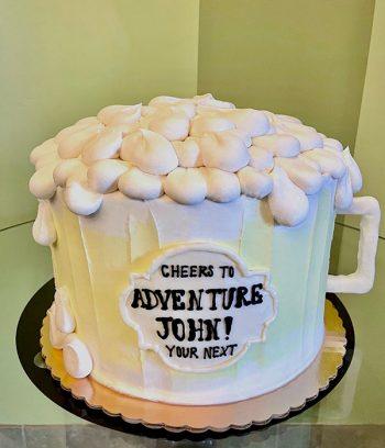 Beer Mug Shaped Cake