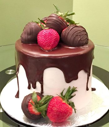 Chocolate Covered Strawberry Layer Cake