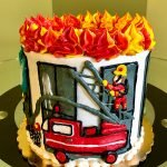 Firefighter Layer Cake - Side