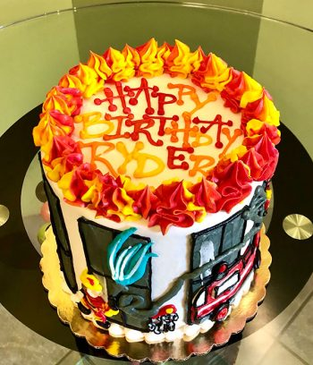 Firefighter Layer Cake - Top