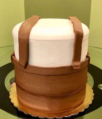 Oktoberfest Lederhosen Layer Cake - Back
